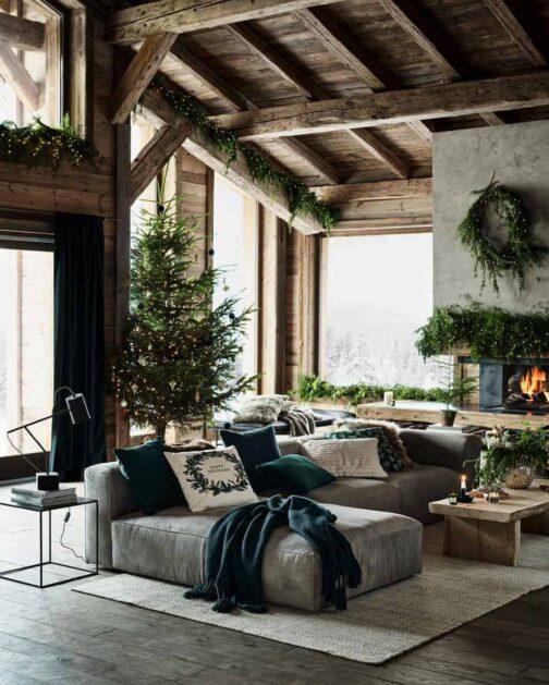 Brad de Crăciun Vis rustic de iarnă